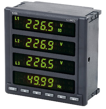 N100 - 3-Phase Power Network Analyser with Ethernet and Recording