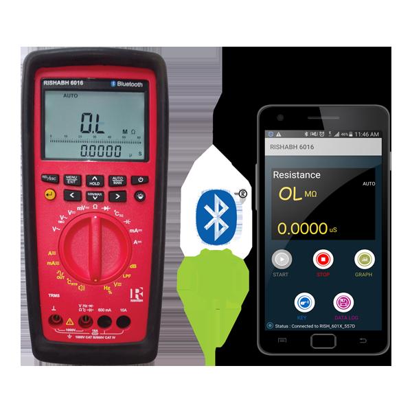 Rishabh 6012/6013/6015/6016 Bluetooth Multimeter